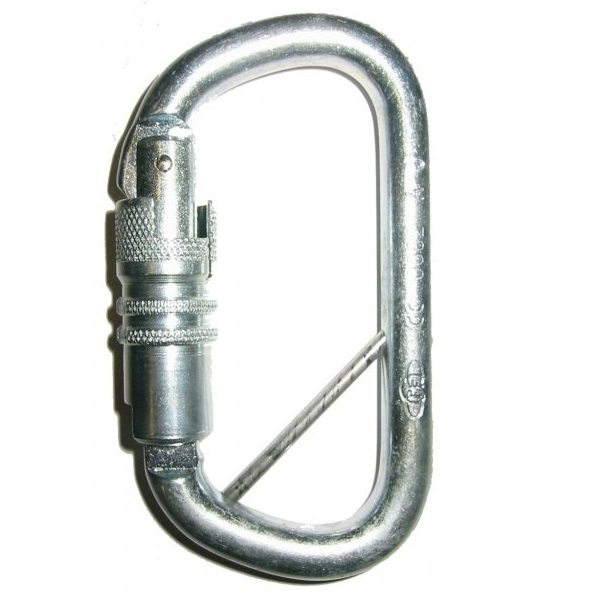 Foin D twistlock karabiner with fixed bar | Work at height & rope access equipment