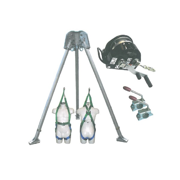 Abtech Safety T3 two-person tripod - kit 4   Work at height & confined space equipment