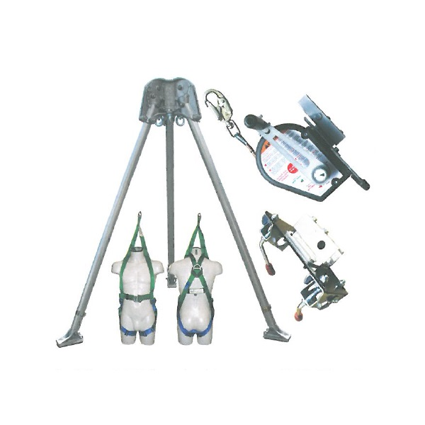 Abtech Safety T3 two-person tripid - kit 6   Work at height & confined space equipment